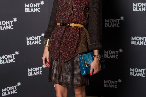 Celebrities Visit Montblanc Booth At SIHH 2013