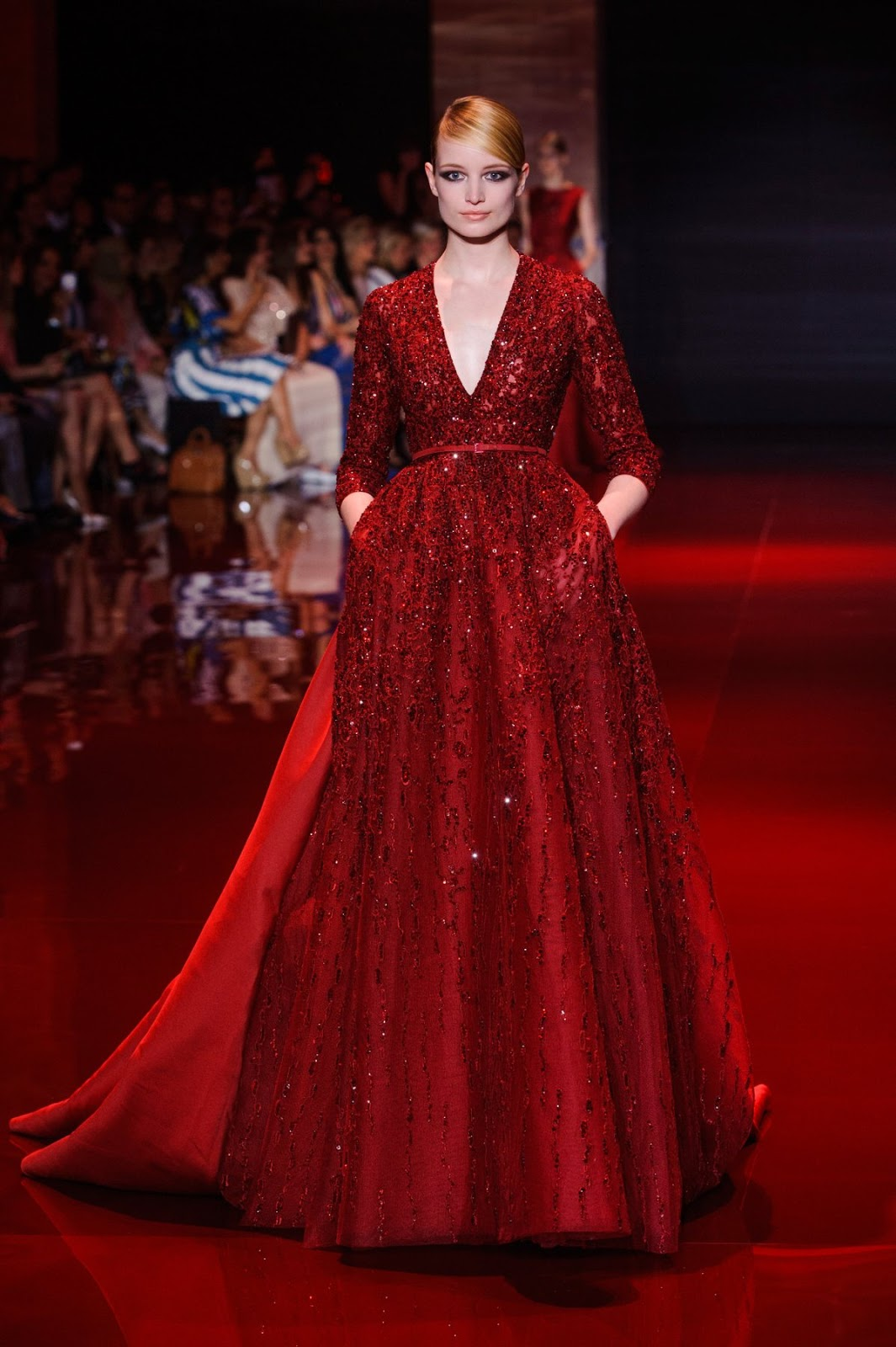 Elie saab middle eastern promise the review mag online for Haute couture red