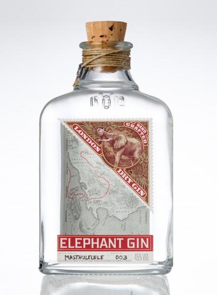 Elephant gin bottle