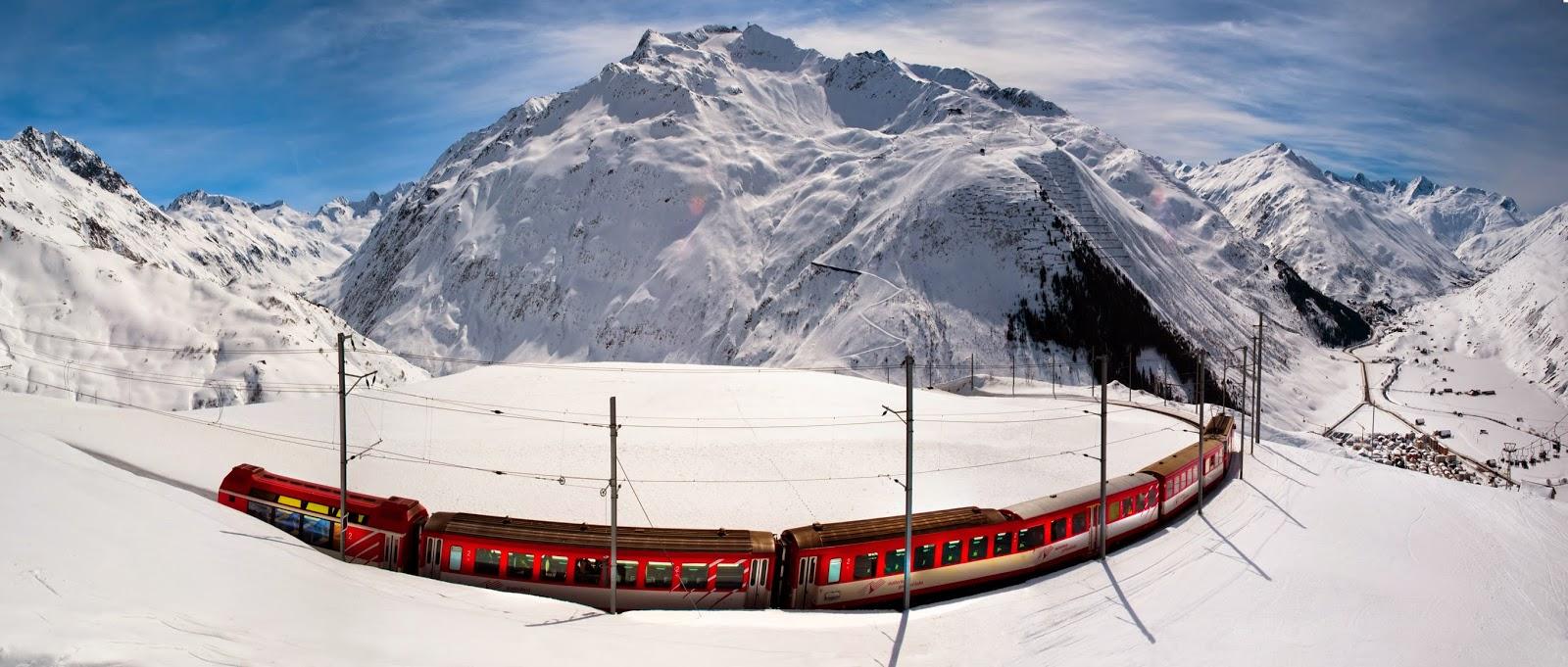 Glacier Express Andermat