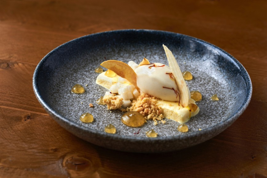 Desert at The Half Moon, Kirdford, pub in west sussex