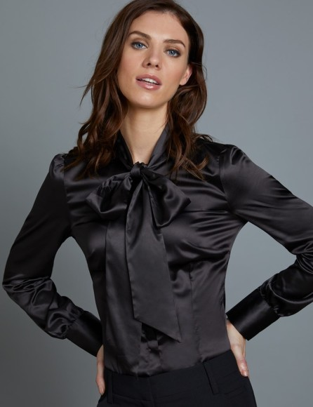 womens-black-fitted-satin-blouse-pussy-bow-LUPTA001-A01-126904-800px-1040px