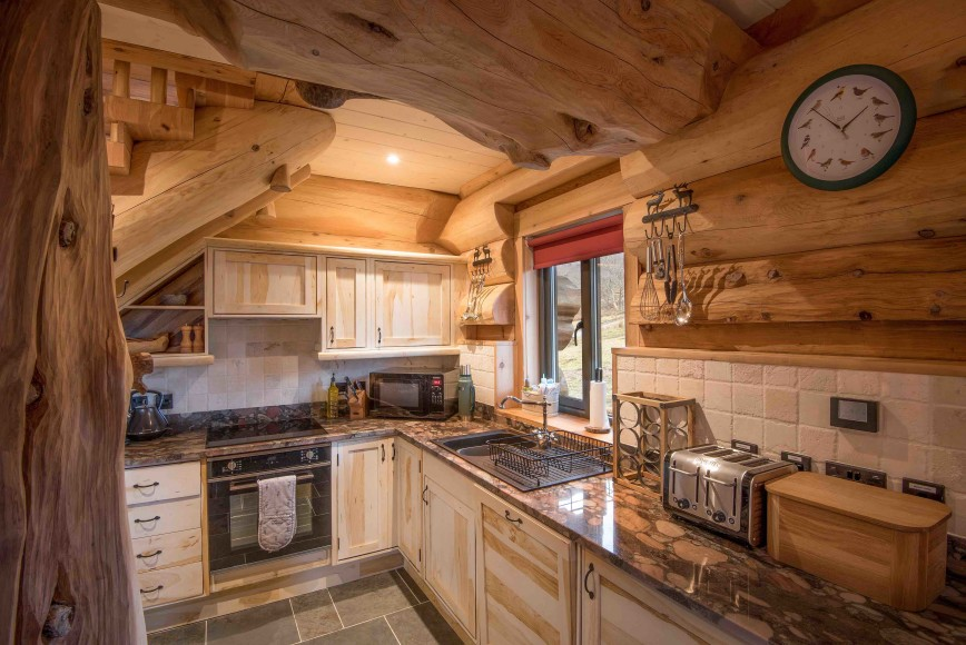 Certhia cabin at Eagle Brae, Scottish Highalnds, January 2019