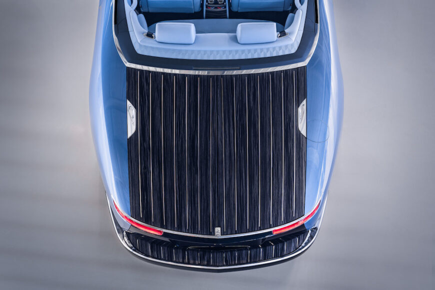 Rolls-Royce Boat Tail in Goodwood Aft Deck aerial